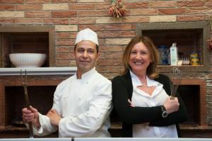 Anna Volpetti insieme allo chef